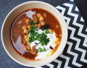 Recept! Kruidige kikkererwten soep