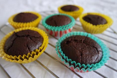 Choco rode bieten muffins