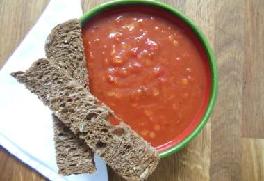 Tomatensoep met linzen