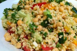 Kruidige bulgur salade
