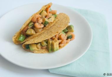 Taco's met garnalen en courgette