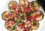 Recept Aubergine salade met granaatappel