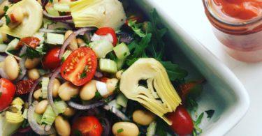 Salade met Limabonen