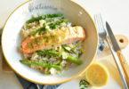 risotto met zalm en groene asperges