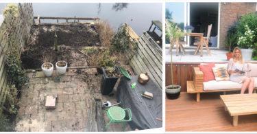 metamorfose 375x195 - Wij hebben onze tuin een metamorfose gegeven!